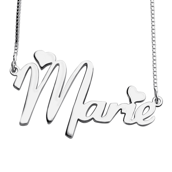 Valentines Day Cute Necklace For Girlfriend In Silver
