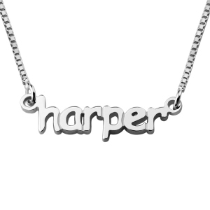 Personalized Sterling Silver Girl's Necklace