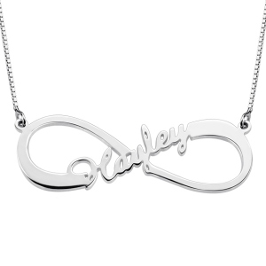 Single Infinity Name Necklace Personalized