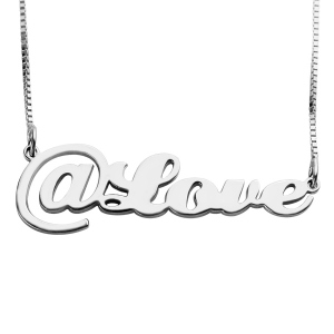 Twitter At Symbol Name Necklace