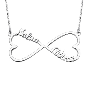 Heart Name Infinity Necklace