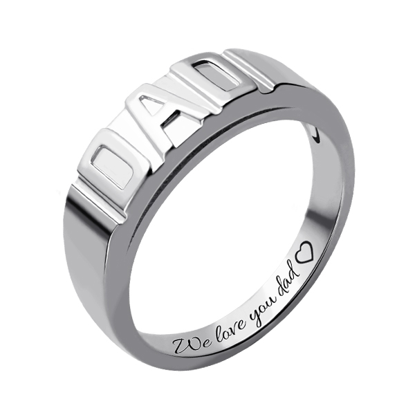 Father DAD Band Ring