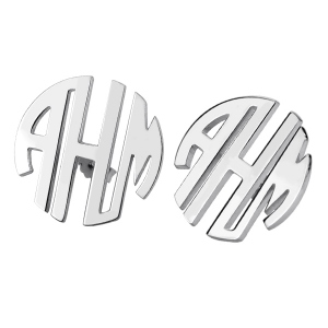 Stud Block Monogram Earrings Personalized