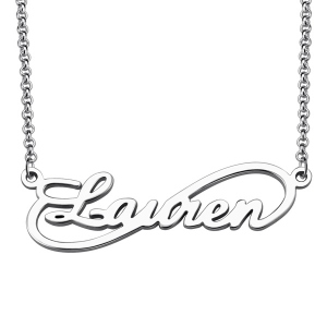 Custom Simple Single Infinity Name Necklace 925 Silver
